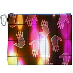 Abstract Background Design Squares Canvas Cosmetic Bag (XXXL)