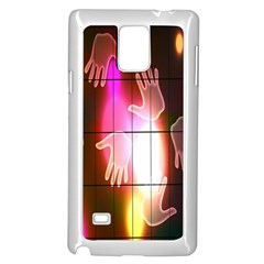 Abstract Background Design Squares Samsung Galaxy Note 4 Case (white)