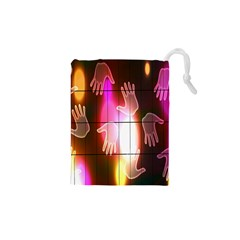 Abstract Background Design Squares Drawstring Pouches (xs)
