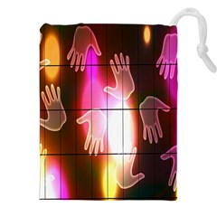 Abstract Background Design Squares Drawstring Pouches (XXL)