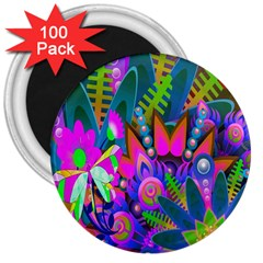 Abstract Digital Art  3  Magnets (100 pack)