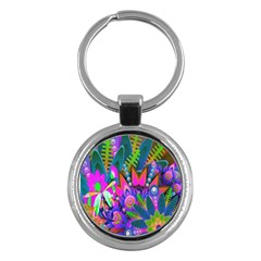 Abstract Digital Art  Key Chains (Round)