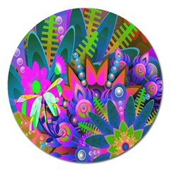Abstract Digital Art  Magnet 5  (Round)