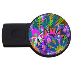 Abstract Digital Art  USB Flash Drive Round (1 GB)