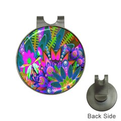 Abstract Digital Art  Hat Clips with Golf Markers