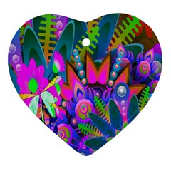 Abstract Digital Art  Heart Ornament (Two Sides)