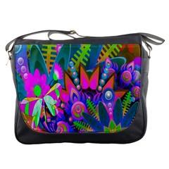 Abstract Digital Art  Messenger Bags