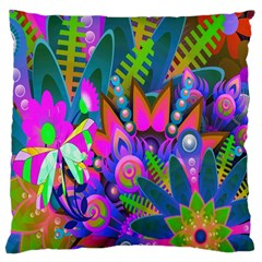 Abstract Digital Art  Large Cushion Case (one Side)