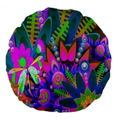 Abstract Digital Art  Large 18  Premium Round Cushions