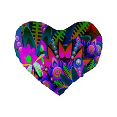 Abstract Digital Art  Standard 16  Premium Heart Shape Cushions