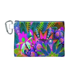 Abstract Digital Art  Canvas Cosmetic Bag (M)