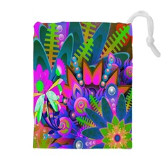Abstract Digital Art  Drawstring Pouches (Extra Large)