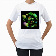 Abstract Balls Color About Women s T-Shirt (White) (Two Sided)