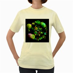 Abstract Balls Color About Women s Yellow T-Shirt