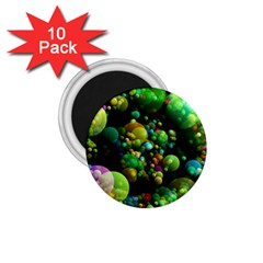 Abstract Balls Color About 1.75  Magnets (10 pack)