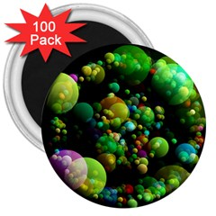 Abstract Balls Color About 3  Magnets (100 pack)
