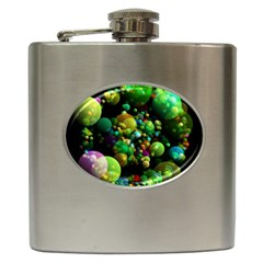 Abstract Balls Color About Hip Flask (6 oz)
