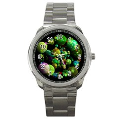 Abstract Balls Color About Sport Metal Watch