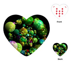 Abstract Balls Color About Playing Cards (Heart)