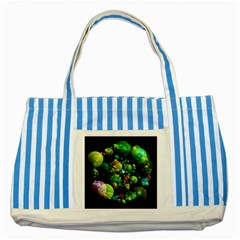 Abstract Balls Color About Striped Blue Tote Bag