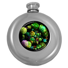 Abstract Balls Color About Round Hip Flask (5 oz)