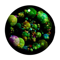 Abstract Balls Color About Round Ornament (Two Sides)