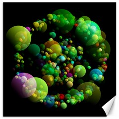 Abstract Balls Color About Canvas 16  x 16