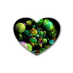 Abstract Balls Color About Heart Coaster (4 pack)