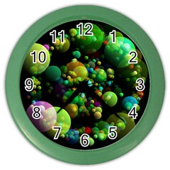 Abstract Balls Color About Color Wall Clocks