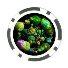 Abstract Balls Color About Poker Chip Card Guard