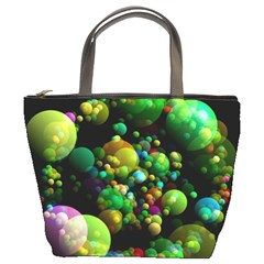 Abstract Balls Color About Bucket Bags