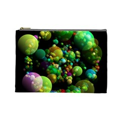 Abstract Balls Color About Cosmetic Bag (Large)