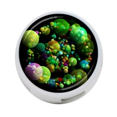 Abstract Balls Color About 4-Port USB Hub (One Side)