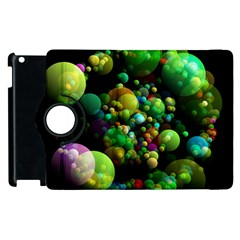 Abstract Balls Color About Apple iPad 3/4 Flip 360 Case