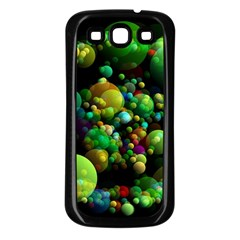 Abstract Balls Color About Samsung Galaxy S3 Back Case (Black)