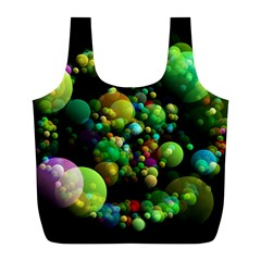 Abstract Balls Color About Full Print Recycle Bags (l)