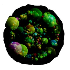 Abstract Balls Color About Large 18  Premium Flano Round Cushions