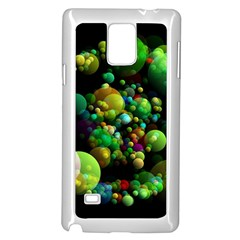 Abstract Balls Color About Samsung Galaxy Note 4 Case (white)