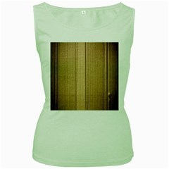 Abstract Art Backdrop Background Women s Green Tank Top