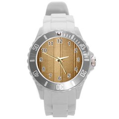 Abstract Art Backdrop Background Round Plastic Sport Watch (L)