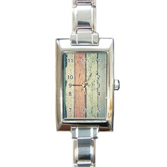 Abstract Board Construction Panel Rectangle Italian Charm Watch