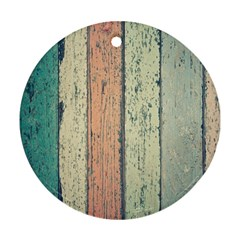 Abstract Board Construction Panel Ornament (Round)