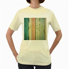 Abstract Board Construction Panel Women s Yellow T-Shirt