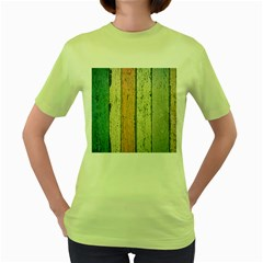 Abstract Board Construction Panel Women s Green T-Shirt