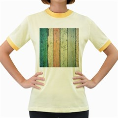Abstract Board Construction Panel Women s Fitted Ringer T Shirts