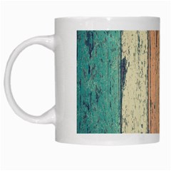 Abstract Board Construction Panel White Mugs