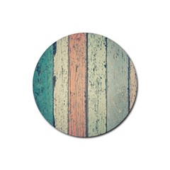 Abstract Board Construction Panel Rubber Coaster (Round)