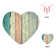 Abstract Board Construction Panel Playing Cards (Heart)