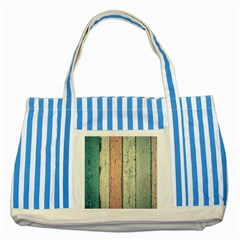 Abstract Board Construction Panel Striped Blue Tote Bag