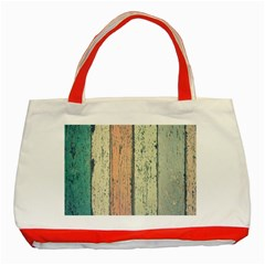 Abstract Board Construction Panel Classic Tote Bag (Red)